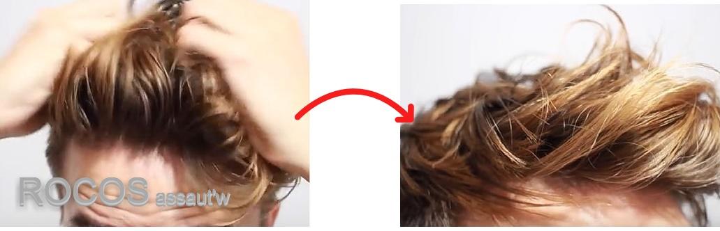 30代のメンズパーマはヘアワックスを髪全体に、くしゃくしゃっと付ける感じに!