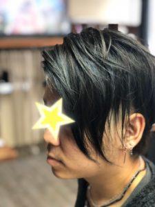 髪が青く光ったメンズカラー! ロコスアッソ美容室