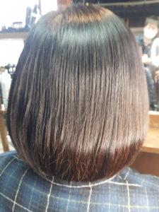 40代【跳ねる髪】カットでお直し。毛先を内側に入れたい。