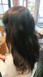 くせ毛が強いお客様が望むのは、今日、サラサラな髪で帰りたい!