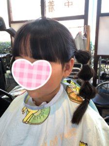 【子供 前髪カット】「栗花落カナヲ」できた!