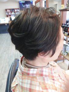 【ヘアマニキュア】白髪染め。ぺたんこな髪がふわっとした!