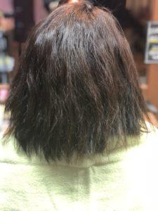 エイジング毛に縮毛矯正をします