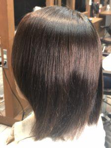 【縮毛矯正】エイジング毛。あっという間にピカピカな髪