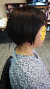 50代【白髪】ヘナカラーの仕上がり。こんな髪色になるよ。