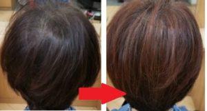 白髪染め後に縮毛矯正をするパターン