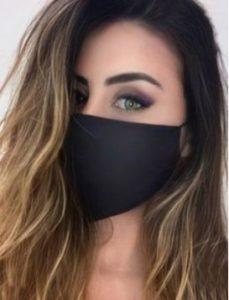 前から見せる。マスクに合う髪型