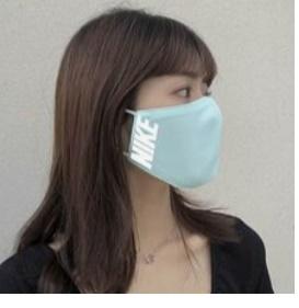 【NG】 前からみてダメなマスクと髪型