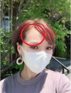 マスクの前髪は斜めバングがおすすめ
