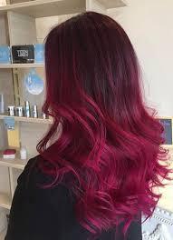ボルドーカラー+レッドパープル強めの髪色