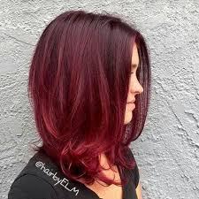 ボルドーカラー+レッドブラウン強めの髪色