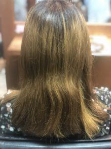 みどりの髪色をお直しします